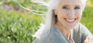 Smiling mature woman outside